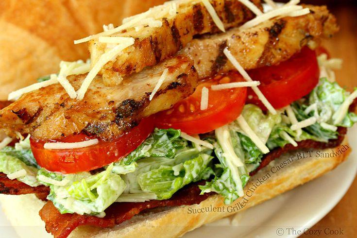 Nuevo post en #foodporn mag: Suculenta Sándwich de pollo César BLT