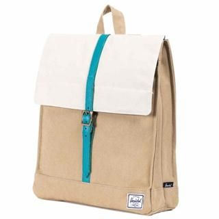 Sac Herschel City Canvas Washed Khaki / Bone / Teal