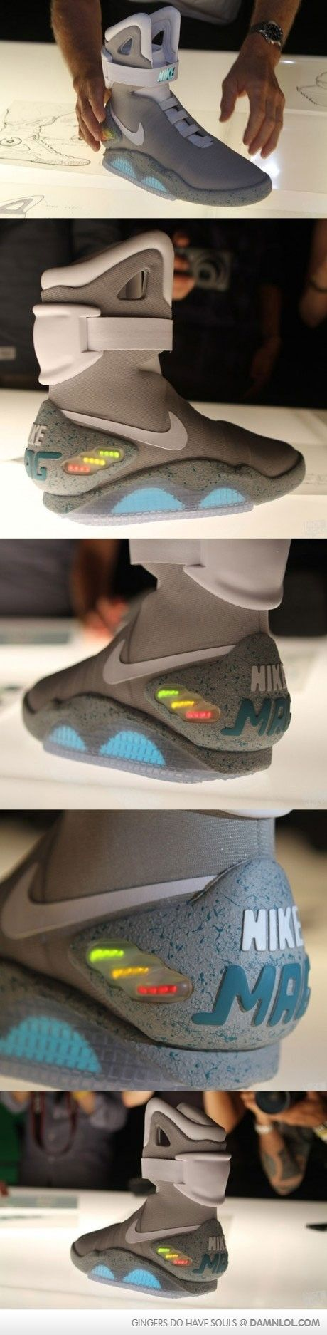 Nike x Air Mag x Back to the Future x Marty McFly Sneakers