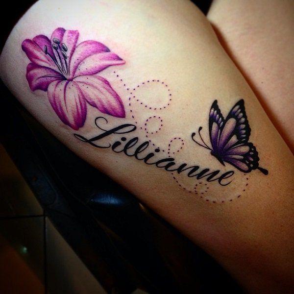 Best 25+ Butterfly Thigh Tattoo Ideas On Pinterest