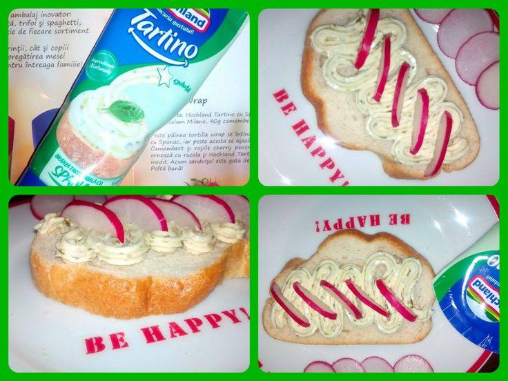 Hochland Tartino cu spanac,sanvisuri delicioase si sanatoase #buzztartino