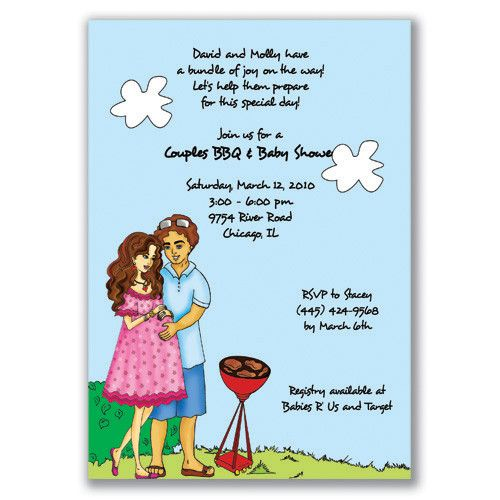 11 best Couple Baby Shower Invitations images on Pinterest Baby - how to word baby shower invitations