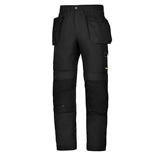 Snickers Mens AllroundWork Work Trousers/Pants  Modern work pants with amazing fit, combining hardwearing comfort and functionality.  Features superior knee protection, built in ventilation and stretch gusset in the crotch for true all-round performance at work.  True pre-bent legs and Cordura stretch gusset.  Mechanical Air Flow at knees for ventilation.  Advanced knee guard for comfort.