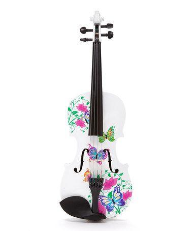 Look at this #zulilyfind! White Butterfly Dream II Violin Set by Rozanna Violins #zulilyfinds