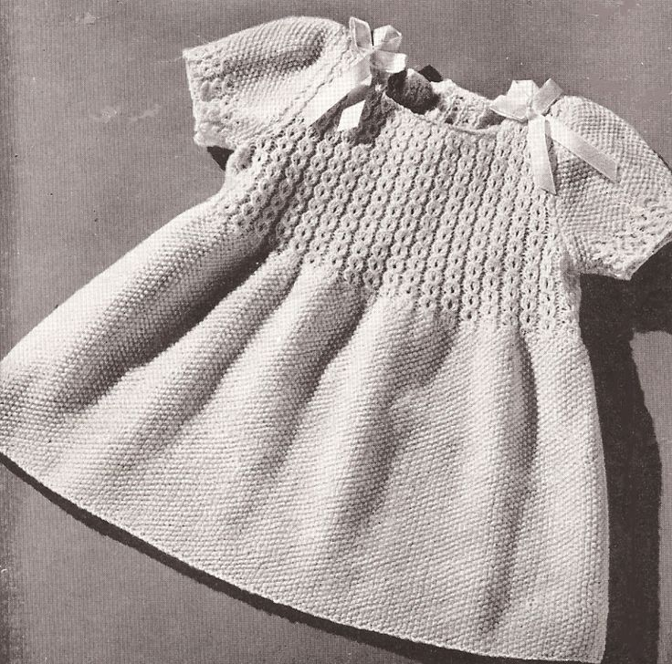 VNTG Knitting PATTERN Toddler Coat Hat Dress Smocking More