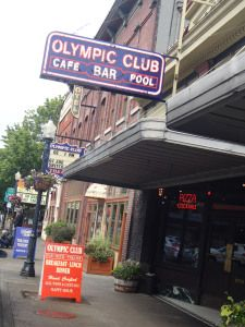"""The Olympic Club in Centralia, WA features multiple bar areas, a billiards room, a theater, all of which are in addition to their """"locally"""" brewed beer"""