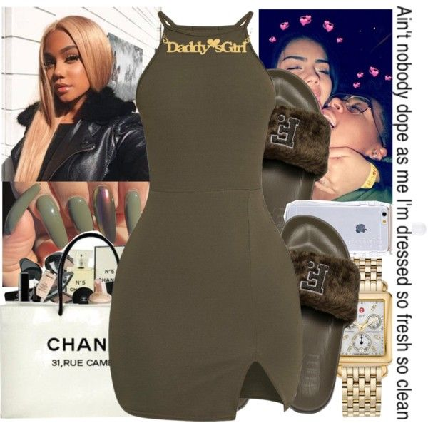 A fashion look from January 2018 featuring Puma sandals, Michele watches and Chanel handbags. Browse and shop related looks.