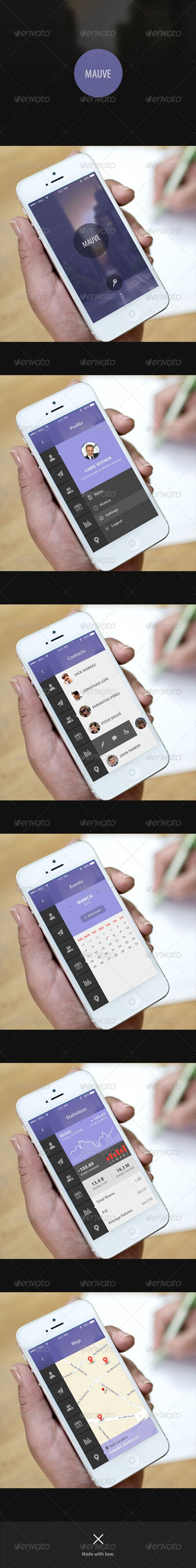 Management  App UI - Mauve  #GraphicRiver          About:   They said… Flat isn't just simplicity, neither content and typography merged in a nice way, It's about putting the right things in the right place, right when you need them. Mauve is a new business management UI design that represents all the director's materials in one single app, Using s merge of silky flat design. And Mauve is designed to meet all quality that the right manager need.    Features:   Retina Display   100% Vector…