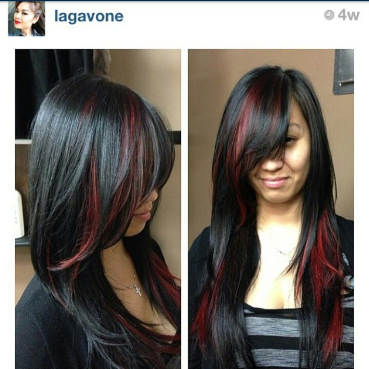 Red On Black Hair