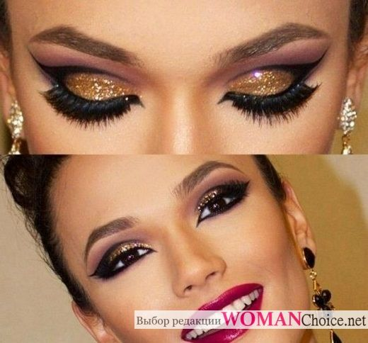 Amazing New Year make-up!