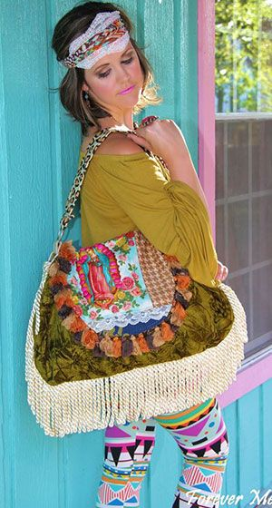 "The ""Trudy"" from Keep It Gypsy is the perfect statement bag to carry all your glamorous needs!"
