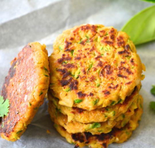 Hamburguesas de garbanzos y calabacín | #Receta de cocina | #Vegana - Vegetariana ecoagricultor.com