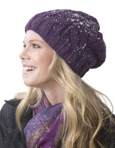 free knitting patterns: giftie slouchie beanie