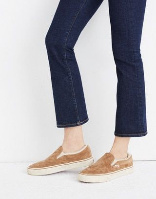 efa4549320 Madewell x Vans® Slip-On Sneakers in Suede and Sherpa in chipmunk angora  image 2