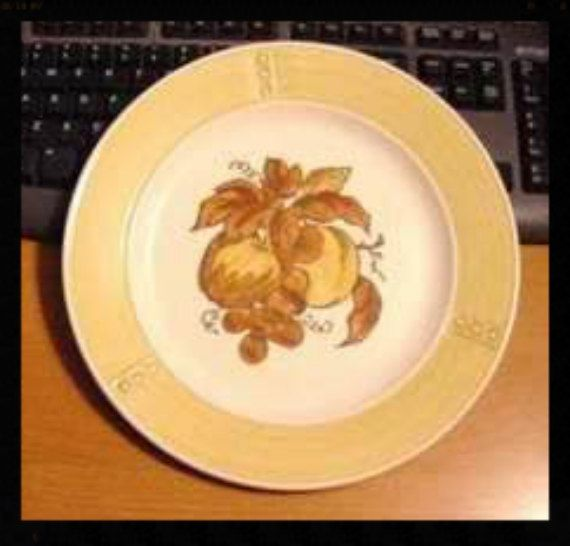 Metlox Lot of 3 Golden Fruit Dinner Plates 10 inch California Pottery Poppytrail Division Second Provincial Shape Replacement Dinnerware & 170 best California Pottery images on Pinterest | Cutlery Dinner ...