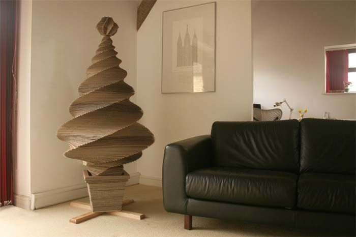 Eco cardboard Christmas tree