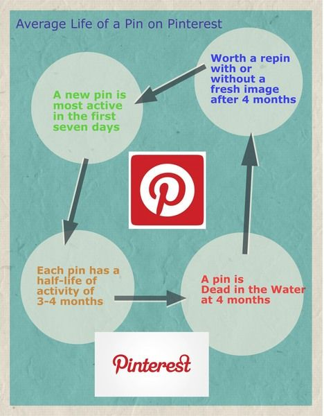The Average Lifespan of a Pin on Pinterest