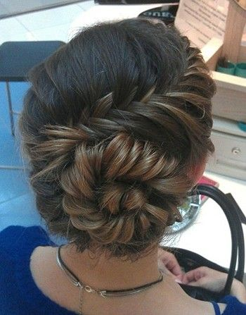 All this is a French Fishtail Braid that was put up into a bun