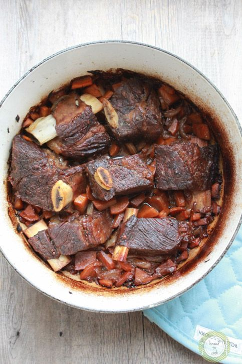 Red wine braised short ribs | Pork, Beef & Lamb | Pinterest