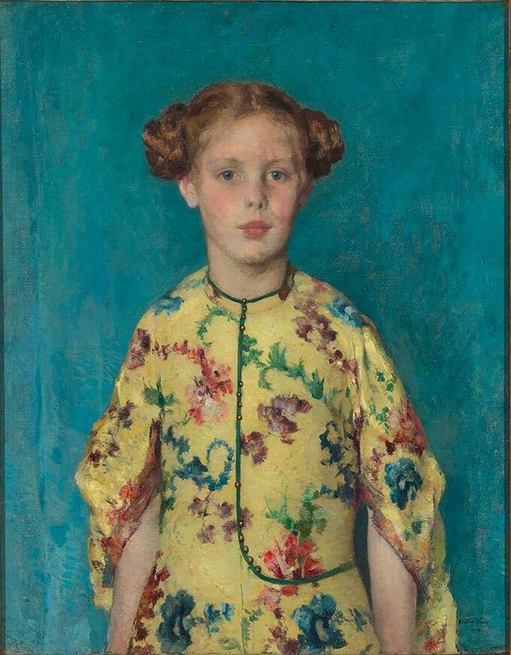 Child portrait of damsel Louise-Félicité de Stuers - Walter Vaes, 1919   Collection Boijmans