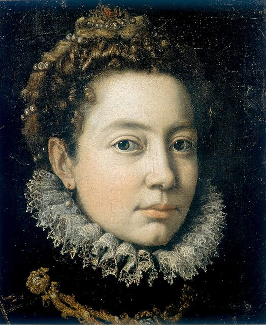 A self portrait of/by Sofonisba Anguissola, 1560. Sofonisba was an extremely successful painter at the Spanish court.