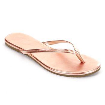 LC Lauren Conrad Flip-Flops in Rose