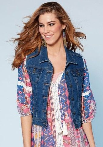 Džínsová vesta #ModinoSK #fashion #style #modino_style