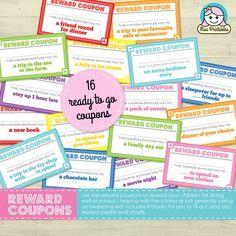 Children's reward coupons