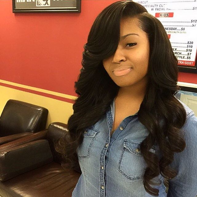 Best 25 sew in weave hairstyles ideas on pinterest sew in instagram post by voiceofhair stylistsstyles voiceofhair protective hairstyleswavy weave pmusecretfo Images