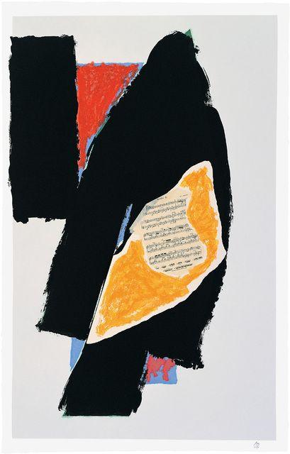 Robert Motherwell, 'Black for Mozart,' 1991, Bernard Jacobson Gallery