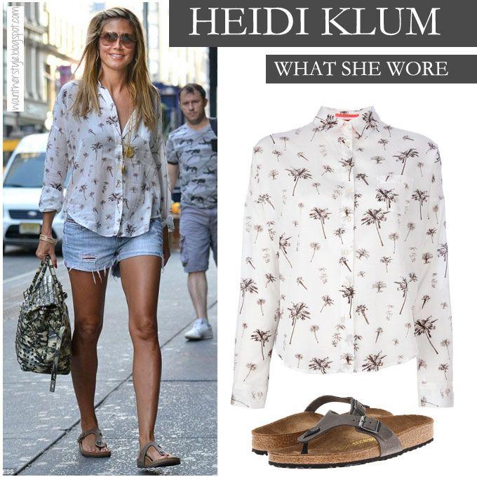H #HeidiKlum με τι άλλο;; Με το μεγαλύτερο trend του Καλοκαιριού! #Birkenstock #Cizeh  Δείτε τα ΕΔΩ --> http://goo.gl/3cwxDb
