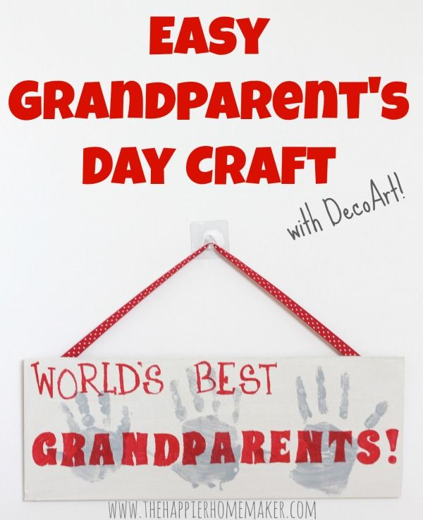 Grandparents Day Craft Ideas For Kids Part - 47: Easy Grandparents Day Craft
