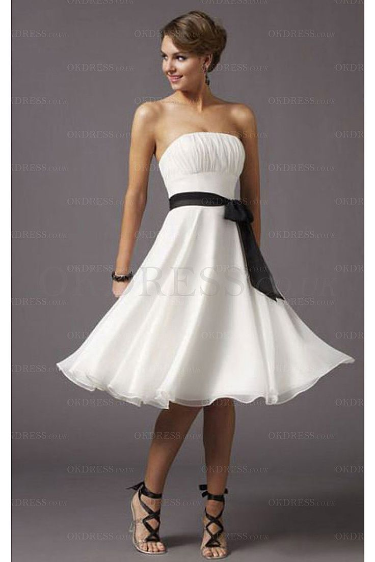 59 best bridesmaid dresses images on pinterest marriage white a line strapless chiffon sash bridesmaid dresses by okdress uk ombrellifo Gallery