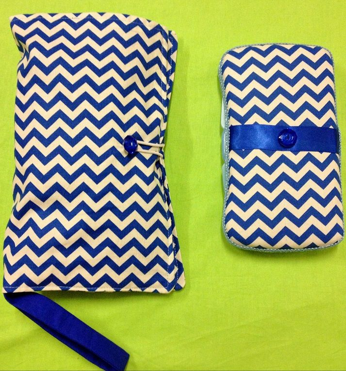Nappy Clutch/Wallet with matching wipes case.  www.mummysmonsters@org