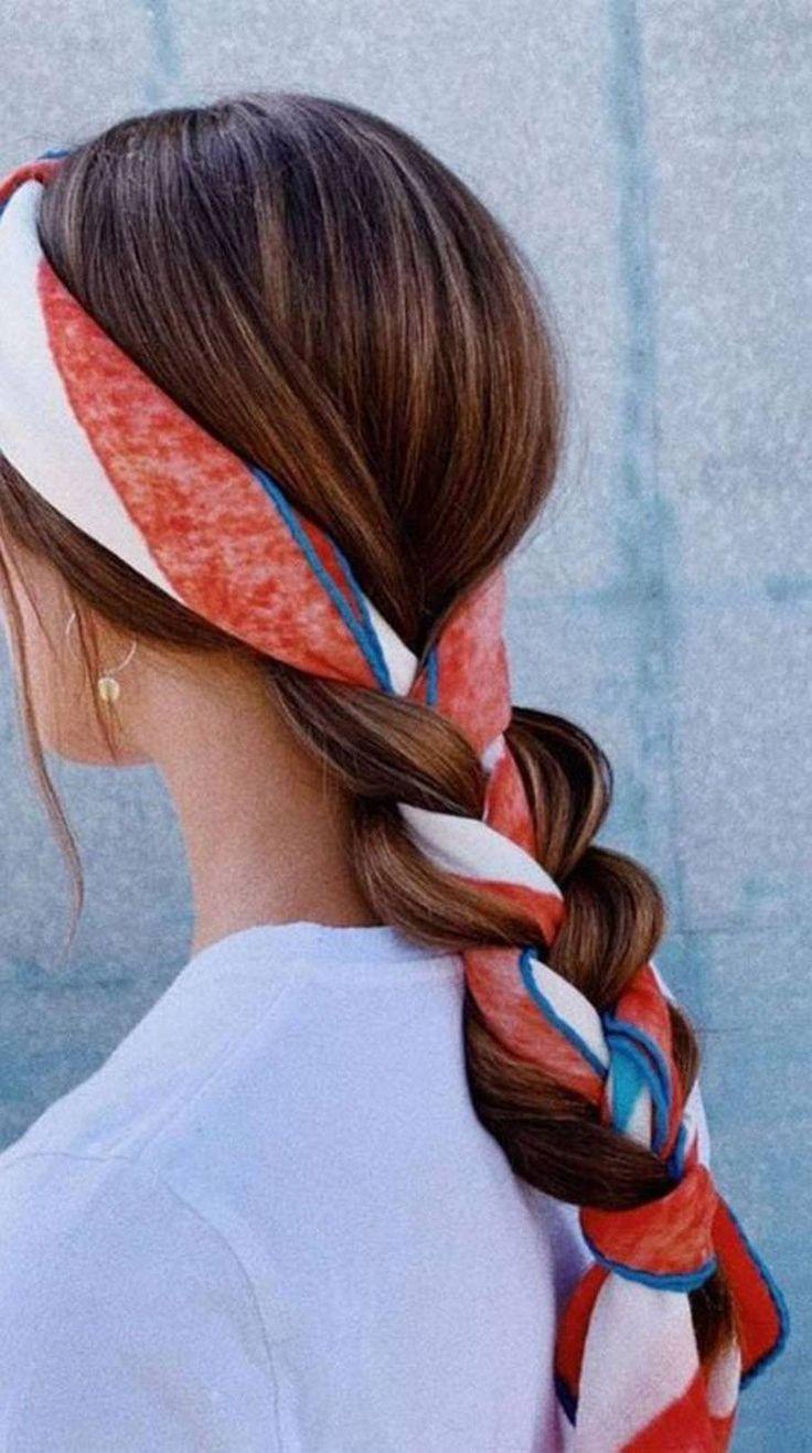 TRENZAS CON PAÑUELO, LA NUEVA TENDENCIA PARA INVITADAS invitadas-trenzas Chic Hairstyles, Scarf Hairstyles, Pretty Hairstyles, Braided Hairstyles, Hairstyles 2018, Hairstyle Ideas, Updo Hairstyle, Braided Updo, Easy Hairstyles For Everyday