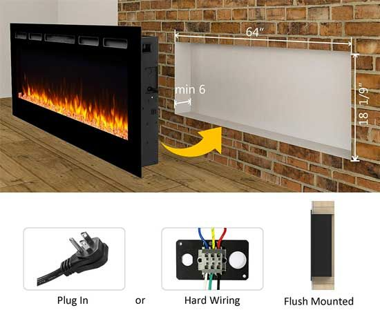 puraflame alice color changing electric fireplace, plus how gas fireplace wiring diagram gas insert fireplace wiring 110v lv