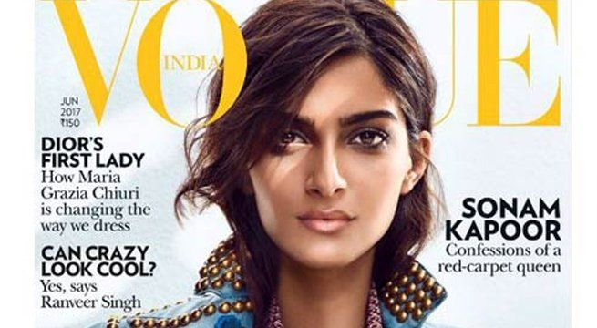Los Angeles: After gracing the red carpet of this year's Cannes Film Festival with her style and elegance, fashionista Sonam Kapoor has captured everyone's attention again by getting on the cover of 'Vogue' magazine. The magazine's Instagram handle shared the cover...