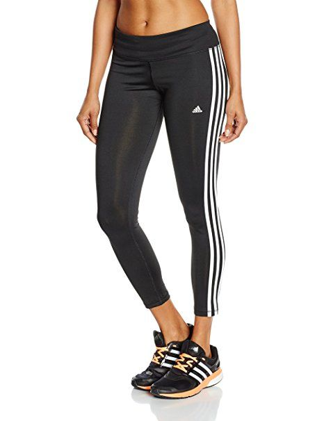 adidas Damen Leggings BASIC 3S LG Tights, Schwarz/ Weiβ, L, 4055344534472