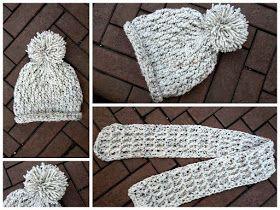 LINDEVROUWSWEB: Gehaakte kindermuts met sjaal gratis haak patroon