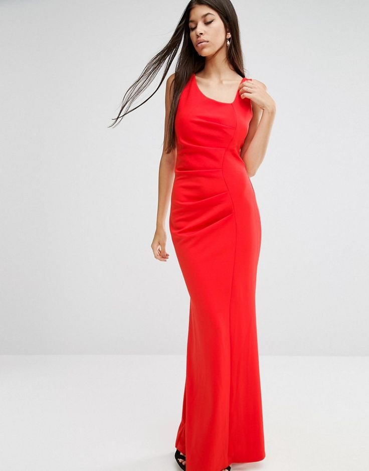 Jessica Wright Tailored Maxi Dress - Red