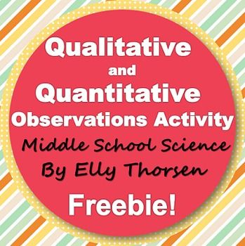 This short activity gives students a chance to review qualitative and quantitative observations and then practice identifying each type of observation with everyday objects. After dividing the class into six groups, the teacher will give each group a different object.