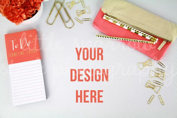 Check out Coral Styled Desktop Mock Up by LittleSparrowShop on Creative Market