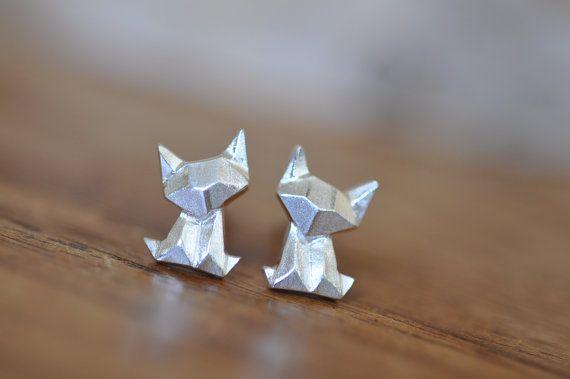 Super super adorable cute little Origami Cat Necklace! You wont be…