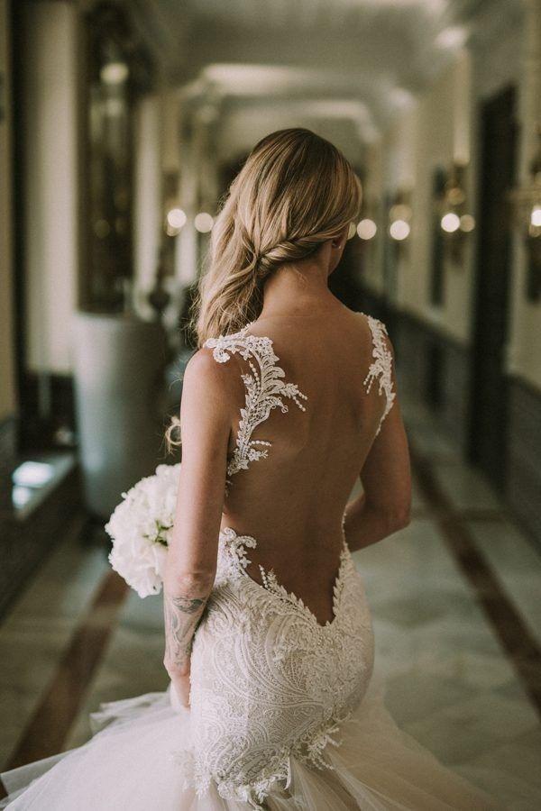 Shop discount Gorgeous Tulle Straps Trumpet Mermaid Ruffles Wedding Dress WDWD7447