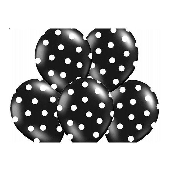 25 beste idee n over ballonnen met stippen op pinterest verjaardag met stippen themafeestje - Zwart meisjes kamer en witte ...