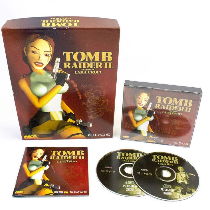 Tomb Raider II (2) for IBM PC CD-ROM by Eidos in Big Box, 1997, Action, VGC, CIB