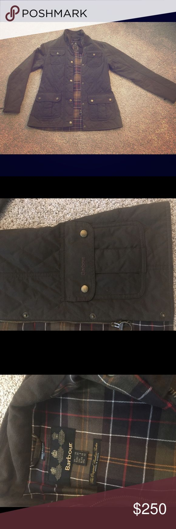 Barbour quilted jacket, army green Great condition! US size 6, very warm! Barbour Jackets & Coats Utility Jackets