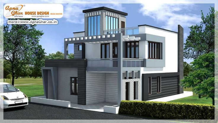 Modern duplex (2 floors) house. Area: 150m2. Click link (http://www.apnaghar.co.in/pre-design-house-plan-ag-page-63.aspx) to view free floor plans (naksha) and other specifications for this design. You may be asked to signup and login. Website: www.apnaghar.co.in, Toll-Free No.- 1800-102-9440, Email: support@apnaghar.co.in