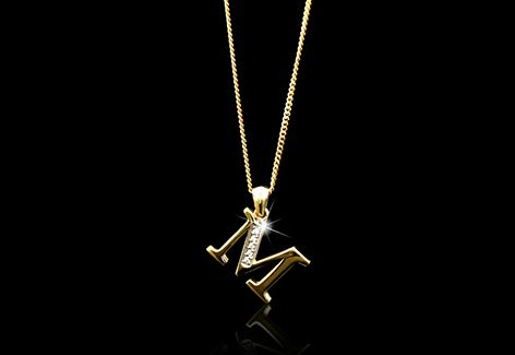 ABCs have never been this glam. Flaunt your initial with a custom made initial pendant.