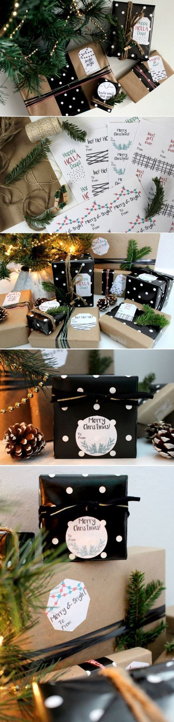 Create customized gift tags for your Christmas presents with these free printables!